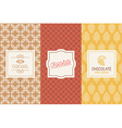 Chocolate and cocoa packaging vector image
