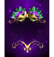 Mardi Gras Mask of Bright Feathers vector image