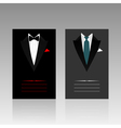 card of the businessman vector image