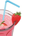 strawberry milkshakes vector image vector image