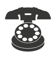 old telephone isolated icon design vector image