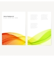 Abstract template color flyer vector image