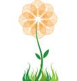 bubble flower vector image