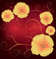 California poppies vector image