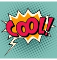 Cool comic book bubble text vector image