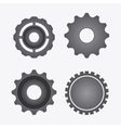 gear cog machine part set design vector image