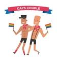 Homosexual gay people couple vector image