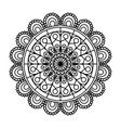 monochrome flower mandala vintage decorative vector image