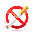 no smoking isolated vector image