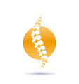 spine isolated silhouette vector image