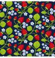 strawberries seamless vector image