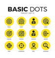 target flat icons set vector image