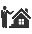 Realty Agent Flat Icon vector image