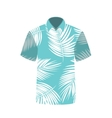 T-shirt with the image of palm trees vector image