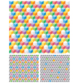 Background with grey and multicolored cubes vector image