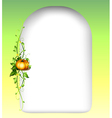An empty space with a vine plant vector image