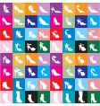 shoe silhouettes background vector image vector image