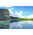 Sunny day on Irish coastline vector image