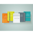 Set of books cover design vector image vector image