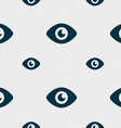 Eye Publish content icon sign Seamless pattern vector image