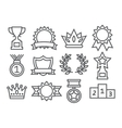 Awards Line Icons vector image