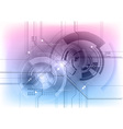 tech background vector image vector image