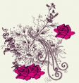 fashion floral design vector image vector image
