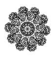 Black hand draw mandala vector image