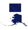 alaska flag and state map vector image