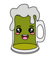 beer jar celebration kawaii character vector image