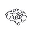 computer brain concept thin line icon vector image