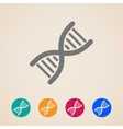 DNA icons vector image