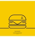 Hamburger icon on a yellow background vector image