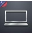 Laptop icon symbol 3D style Trendy modern design vector image