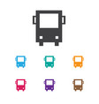 of travel symbol on bus icon vector image