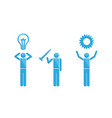 people with inventions business symbol vector image