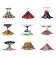 set of mountains and hot vector image