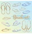 set of slippers painted lines in minimalist vector image