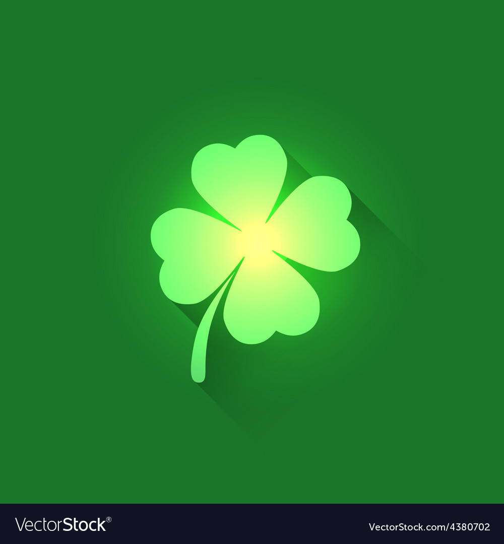 Irish shamrock clover leaf vector