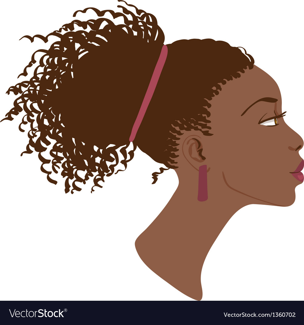 Portrait of beautiful women profile vector