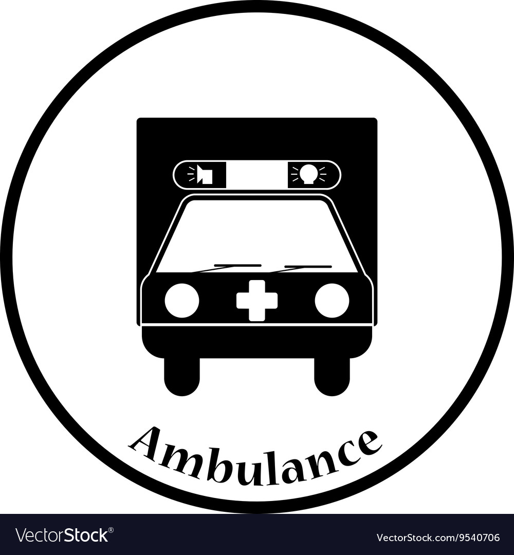 Ambulance car icon vector