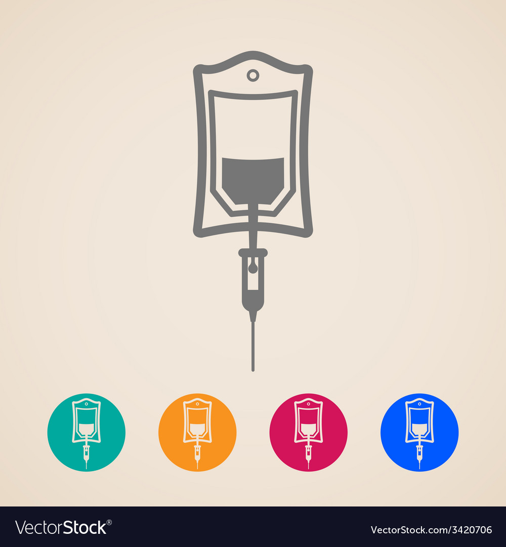 Bag of blood icons vector