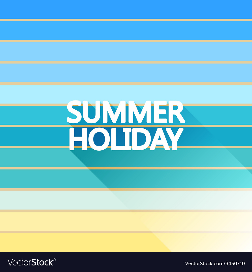 Summer holiday vintage on light sea vector