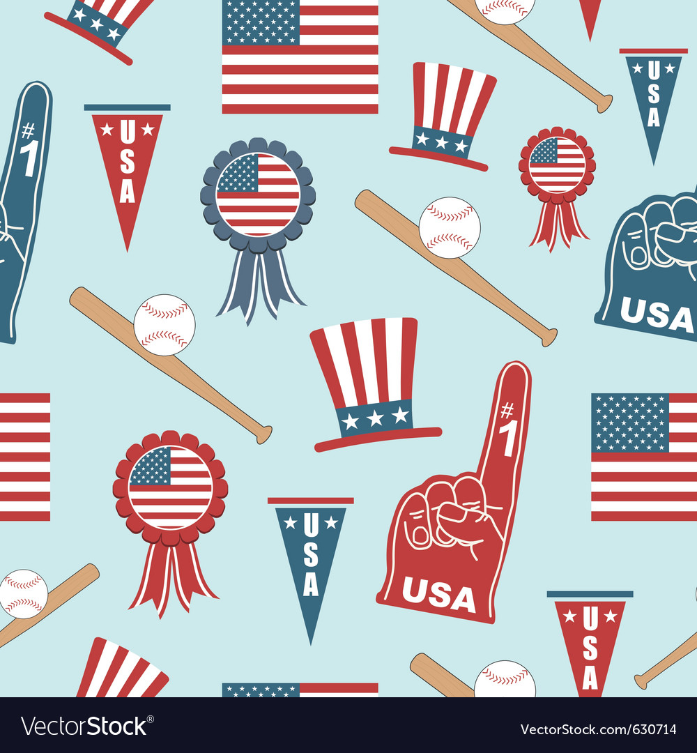 Usa baseball pattern vector