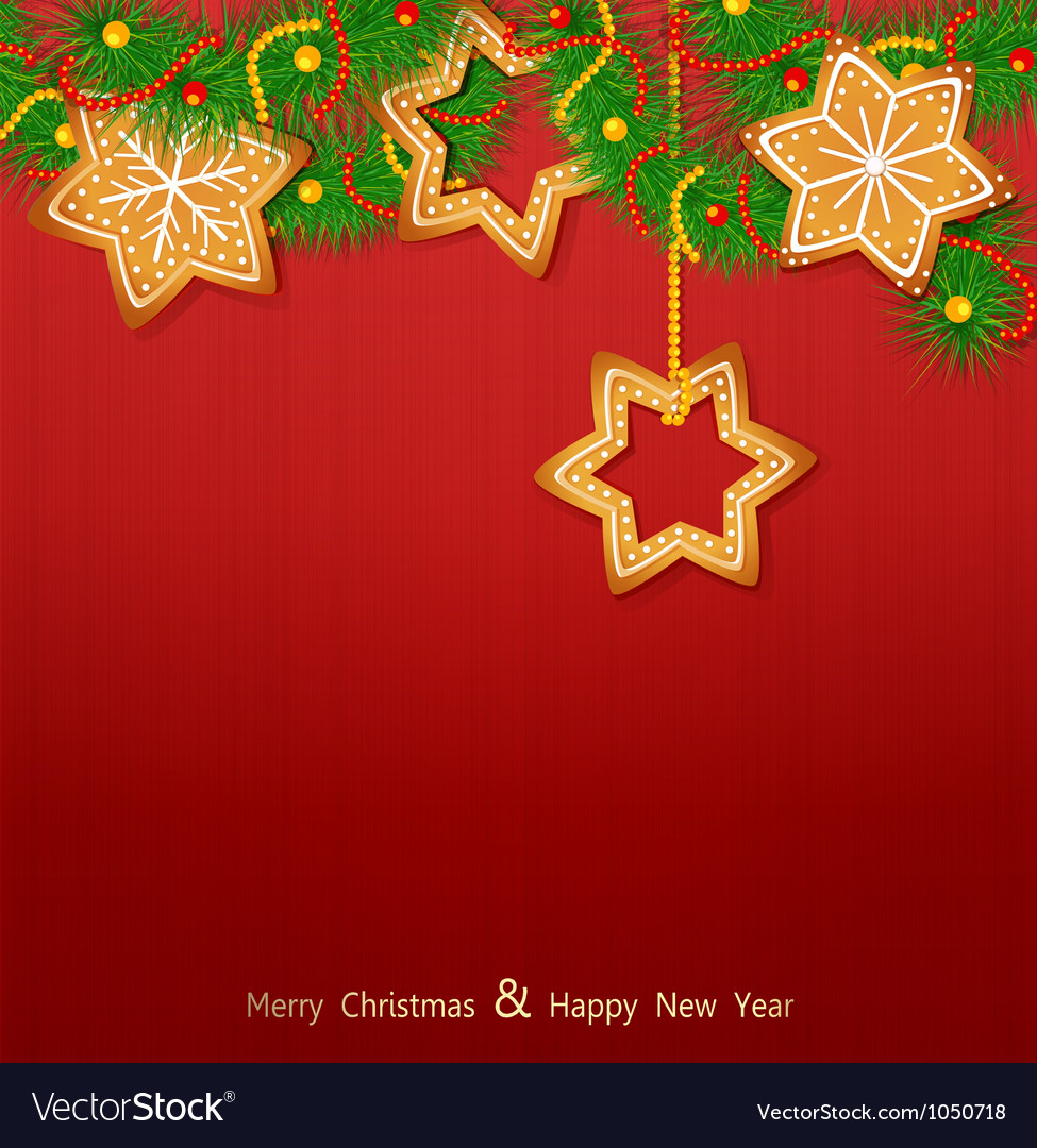 Christmas background with sweets vector