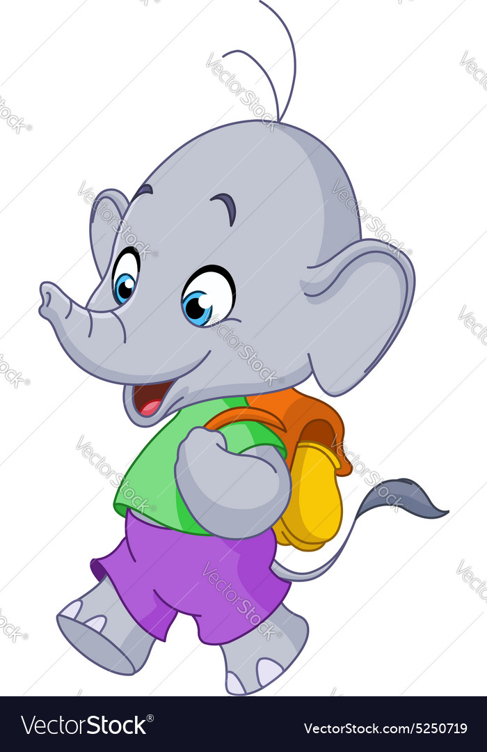 School elephant vector
