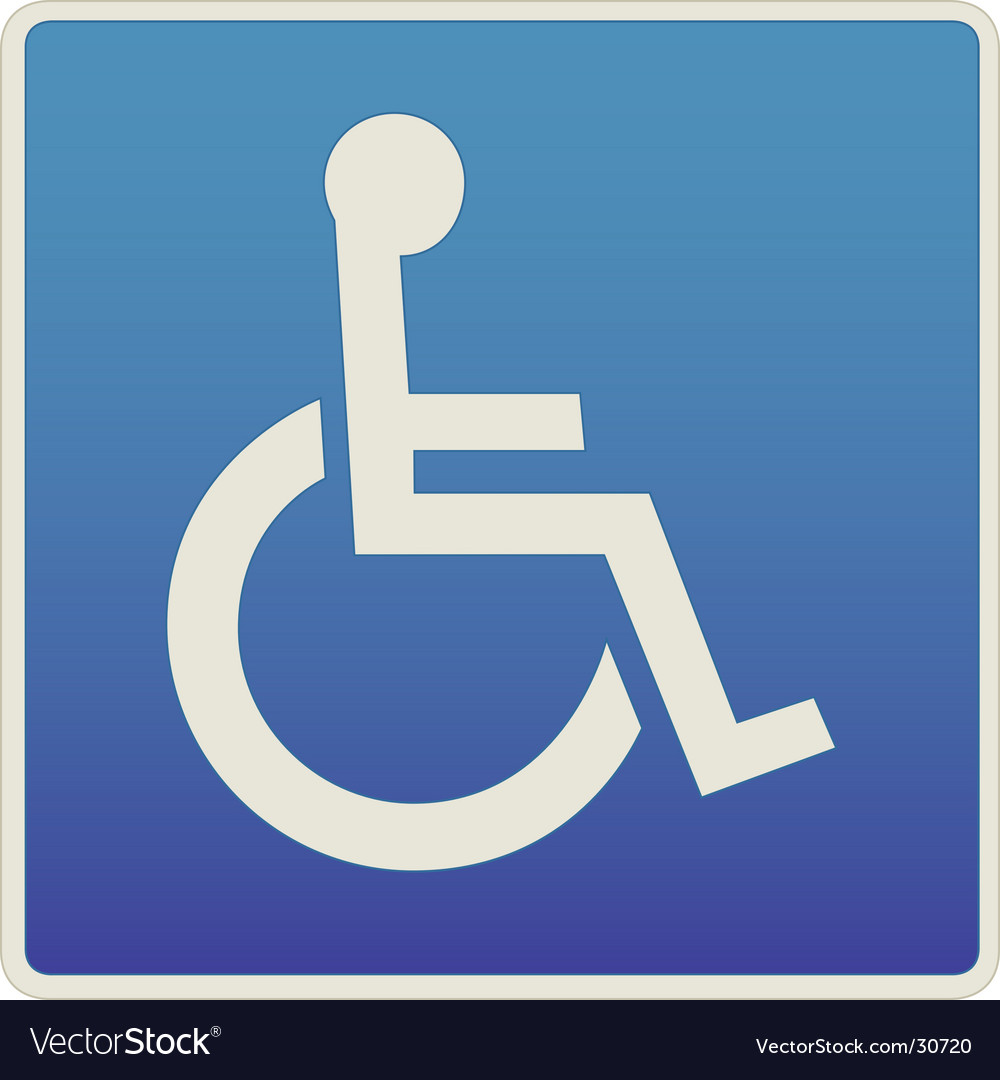 Handicap traffic sign vector
