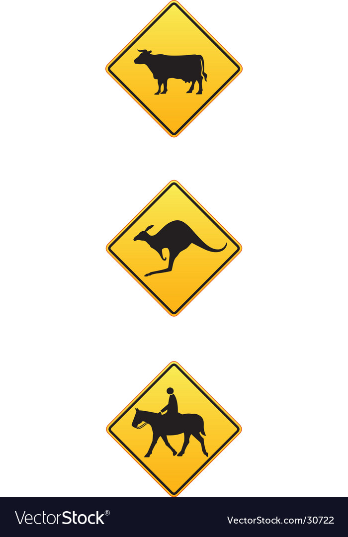 Animal traffic signs vector