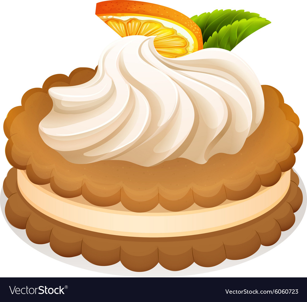 Sandwich cookie with cream and orange vector