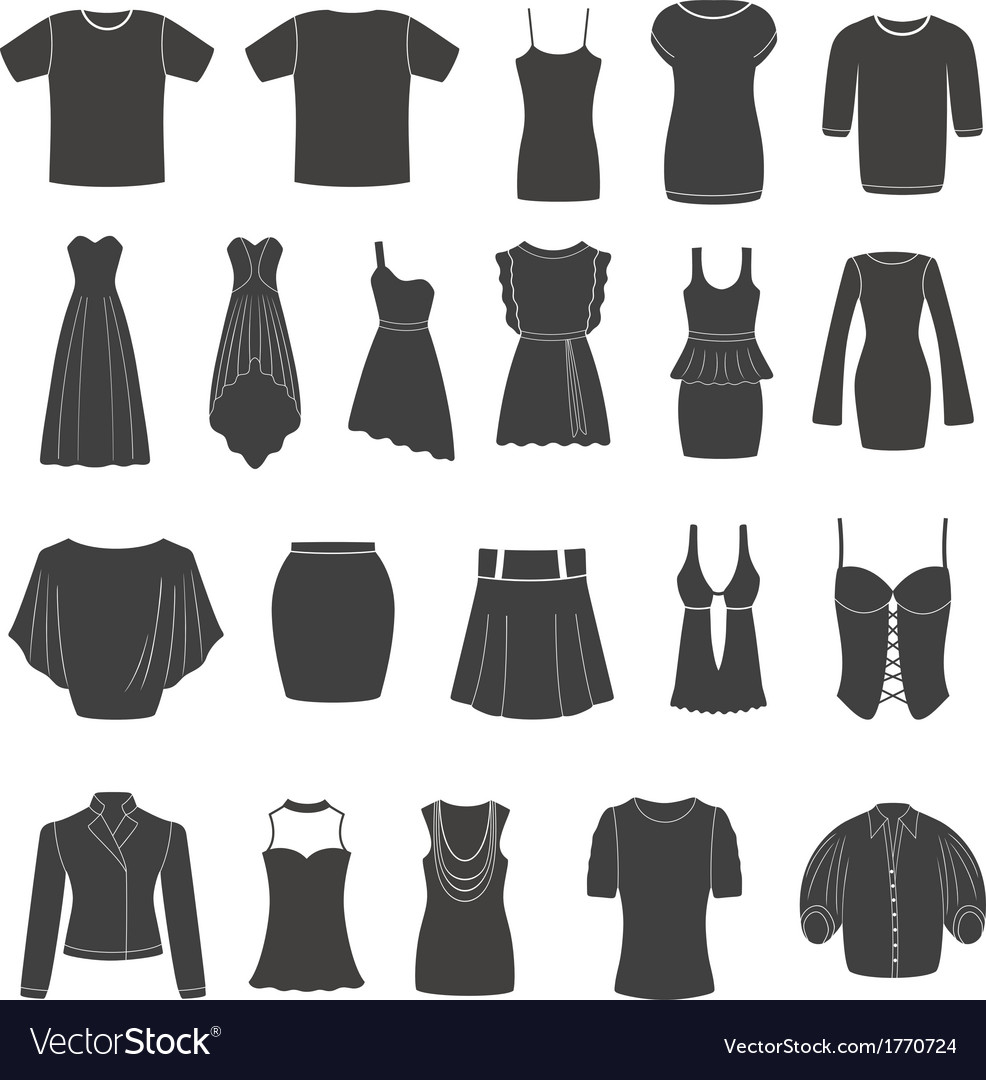 Set of women s and men s clothing vector